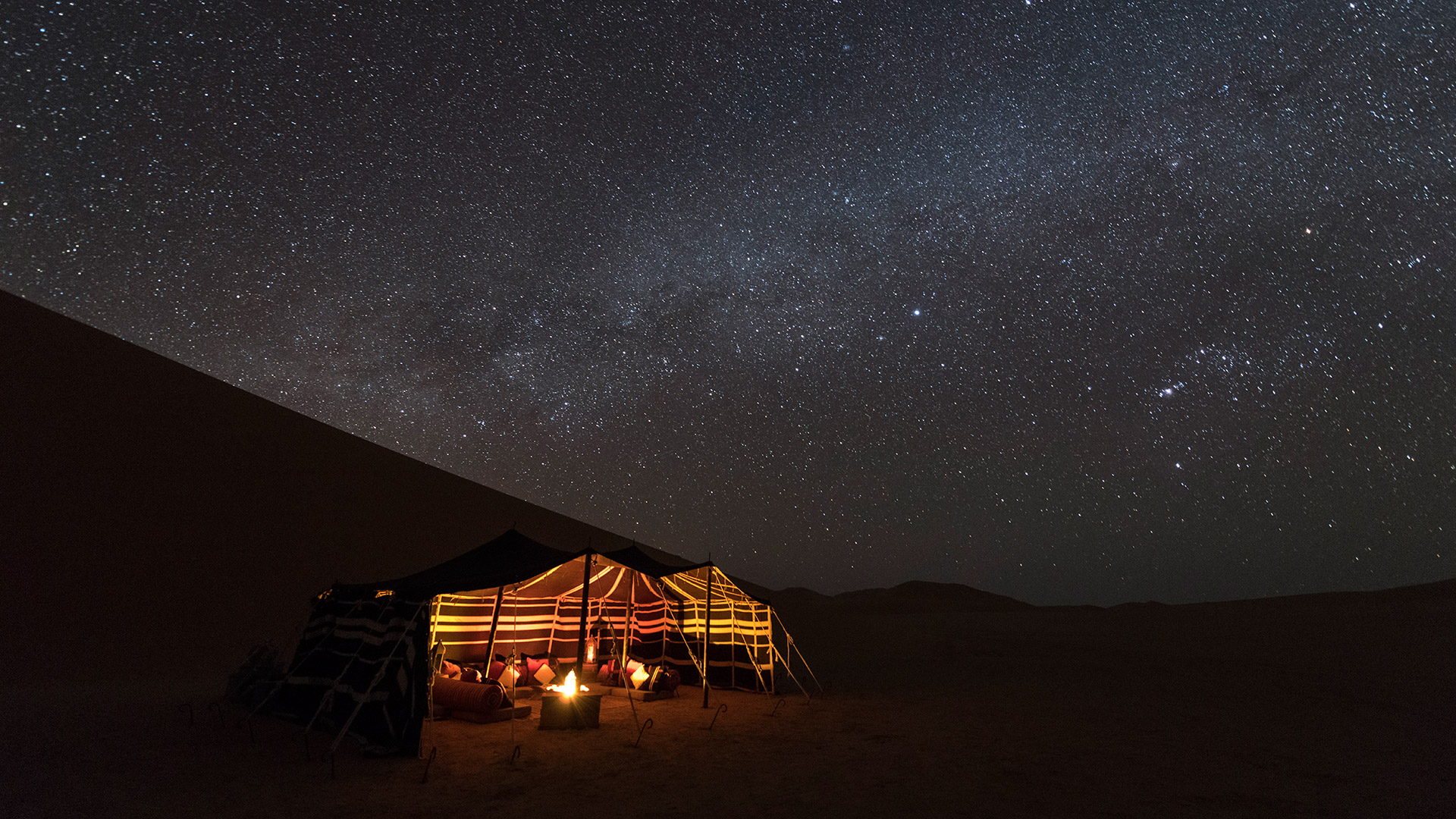 Our bedouin style tent under the stars