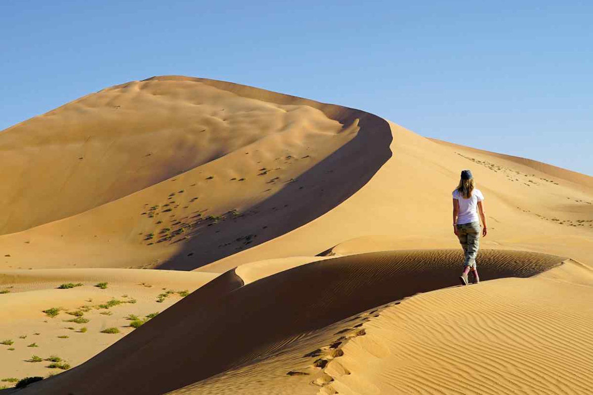 The author explores the dunes in Oman's vast Empty Quarter | Image: Pelorus