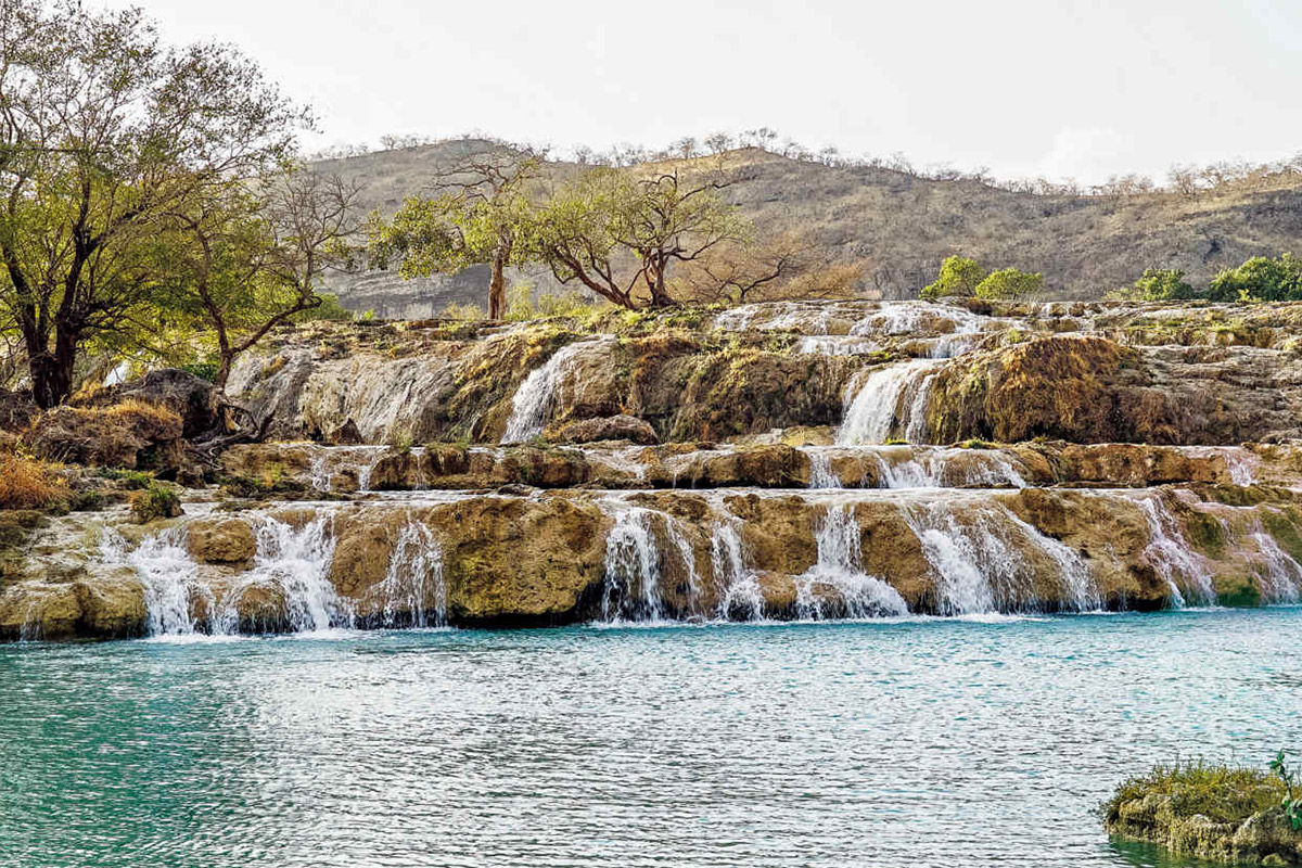 The waterfalls of Wadi Darbat, east of Salalah | Image: Pelorus